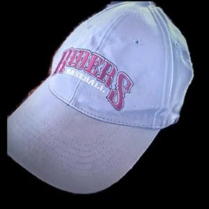 Roughriders baseball cap gray red